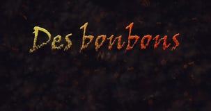 Текст вида ООН uo bonbons Des (фокус или обслуживание) французский растворяя в пыль от дна бесплатная иллюстрация