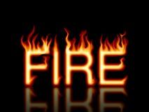 текст влияния пламенеющий Стоковое Изображение