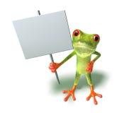 текст вставки лягушки ваш иллюстрация штока