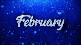 Текст в феврале голубой желает приветствия частиц, приглашение, предпосылку торжества