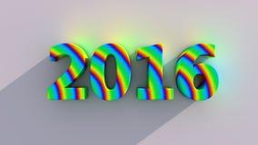 текст 2016 год красочный Стоковая Фотография