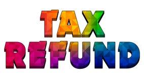 Текст графика 003 возврата налога красочный бесплатная иллюстрация