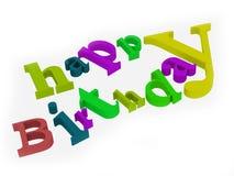 текст дня рождения счастливый Стоковая Фотография