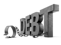 Текст задолженности с сережками бесплатная иллюстрация