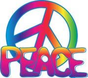 текст знака мира Стоковое Изображение RF