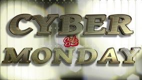 Текст золота 3D продажи понедельника кибер стоковая фотография rf