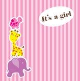 текст ливня карточки зайчика предпосылки младенца милый флористический Стоковые Фотографии RF