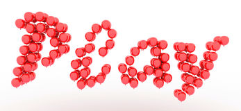 Текст игры воздушных шаров Стоковые Изображения RF