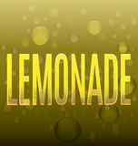 Текст лимонада желтый клокочет абстрактный логотип Стоковое фото RF