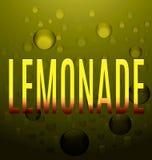 Текст лимонада желтый клокочет логотип Стоковая Фотография RF