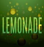 Текст лимонада зеленый клокочет логотип Стоковое Изображение RF