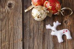 текст индукторной станина поздравлениям рождества шариков предпосылки яркий Стоковые Фото