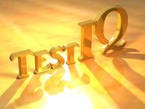 текст испытания iq золота Стоковая Фотография RF