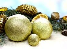 текст космоса золота рождества шариков предпосылки ваш Стоковое фото RF