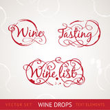 Текст красного вина Стоковое Фото