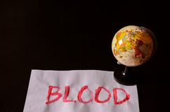 Текст крови слова Стоковые Изображения