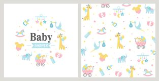 текст ливня карточки зайчика предпосылки младенца милый флористический иллюстрация штока