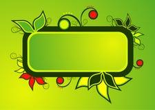 текст листьев рамки Стоковое Изображение RF
