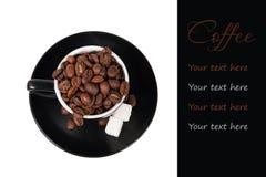 текст места принципиальной схемы кофе ваш Стоковые Фото
