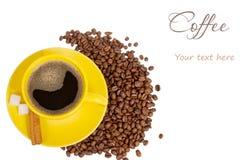 текст места принципиальной схемы кофе Стоковая Фотография