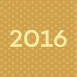 Текст 2016 на Новых Годах предпосылке, иллюстрации сверстницы шрифта Стоковая Фотография