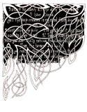 Текст на черной предпосылке для орнаментальных картин Чертеж ручки геля стоковые фото