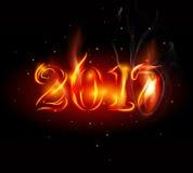 текст огня 2017 год с дымом иллюстрация штока
