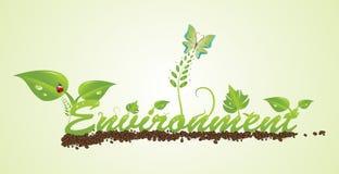 Текст окружающей среды принципиальной схемы Стоковое Изображение RF