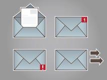 текст 3 отражения электронной почты черной принципиальной схемы предпосылки габаритный Стоковая Фотография