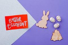 Текст охоты пасхального яйца Стоковая Фотография