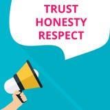 текст писать уважение честности доверия иллюстрация штока