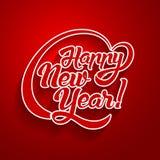 Текст поздравительной открытки Нового Года Стоковая Фотография RF