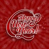 Текст поздравительной открытки Нового Года Стоковое Изображение RF