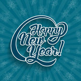 Текст поздравительной открытки Нового Года иллюстрация вектора