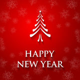 Текст поздравительной открытки Нового Года Стоковые Изображения RF