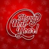 Текст поздравительной открытки Нового Года Стоковая Фотография