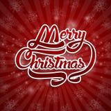 Текст поздравительной открытки рождества С Рождеством Христовым литерность, вектор Стоковые Фото