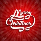 Текст поздравительной открытки рождества С Рождеством Христовым литерность, вектор Стоковое фото RF
