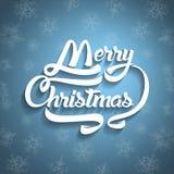 Текст поздравительной открытки рождества С Рождеством Христовым литерность, вектор Стоковые Изображения RF