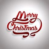 Текст поздравительной открытки рождества С Рождеством Христовым литерность, вектор Стоковая Фотография RF