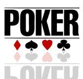 текст покера Стоковое Изображение