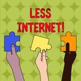 Текст почерка без интернета Смысл концепции не имея никакой путь соединять или получения доступа к покрашенный интернет 3 иллюстрация вектора