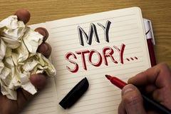 Текст почерка мой рассказ Портфолио профиля личной истории достижения жизнеописания смысла концепции написанное человеком на тетр стоковые фотографии rf