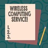 Текст почерка писать беспроводное вычисляя обслуживание Компания смысла концепции которой предлагает обслуживания трансмиссии для бесплатная иллюстрация
