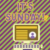Текст почерка писать ему s воскресенье День смысла концепции недели между остатками субботы и понедельника в большинств странах иллюстрация штока