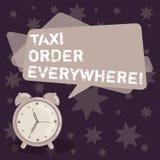 Текст почерка писать заказ такси везде Кабина концепции нанятая смыслом для того чтобы повезти пассажира к своему пробелу обознач иллюстрация вектора