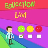 Текст почерка писать закон образования Дисциплина смысла концепции законная покрывая все вопросы вследствие школ иллюстрация вектора