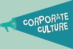 Текст почерка писать корпоративную культуру Верования и идеи смысла концепции что компания имеет, который делят значения бесплатная иллюстрация