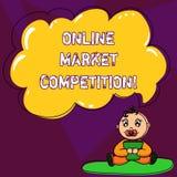 Текст почерка писать онлайн рыночную конкуренцию Концепция знача соперничество между компаниями продавая такого же младенца проду бесплатная иллюстрация