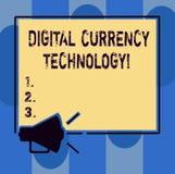 Текст почерка писать технологию валюты цифров Концепция знача валюту доступную в цифровой или электронной форме иллюстрация штока